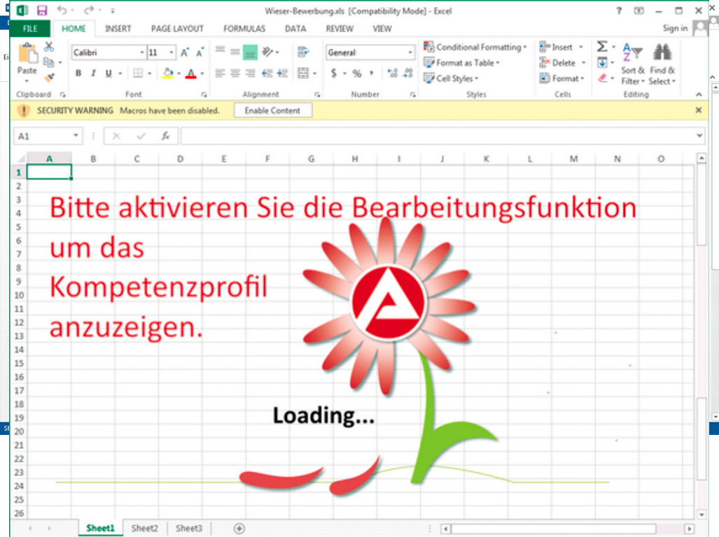 Email Security Makro Beispiel