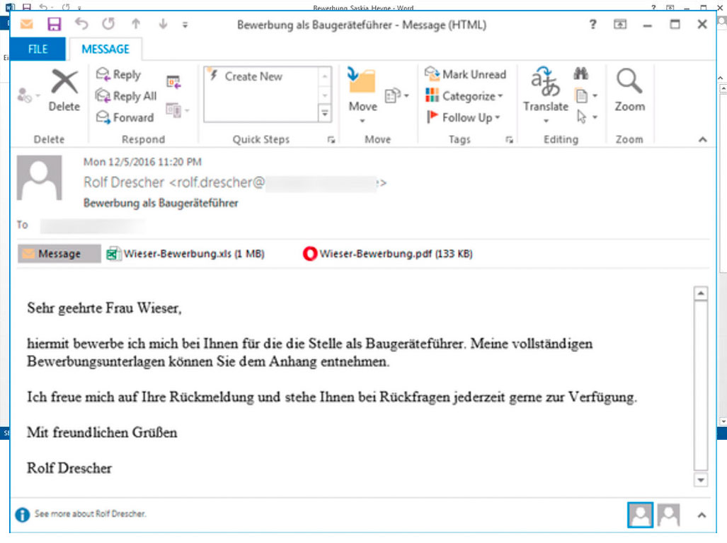 Email Security Phishing Beispeil