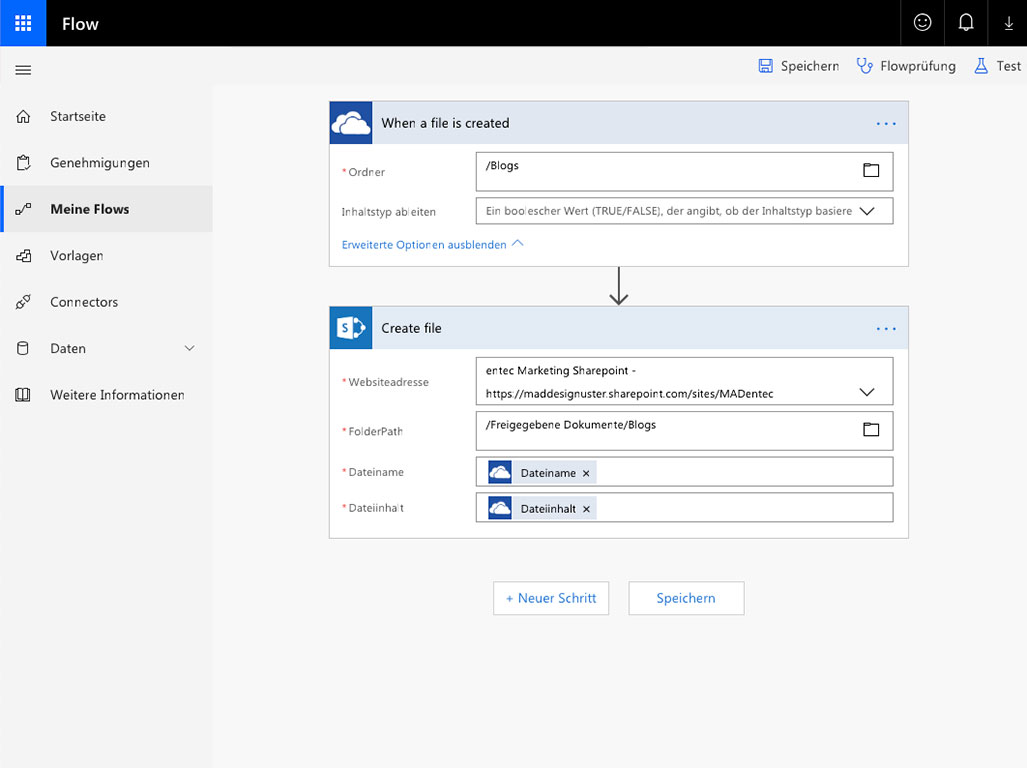 Microsoft Office 365 Flow