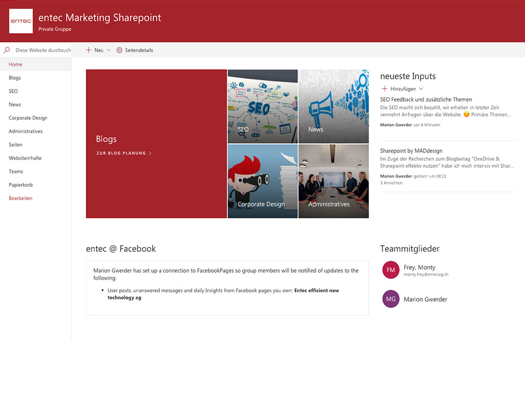 Microsoft Office 365 Sharepoint Beispiel