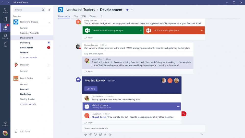 Microsoft Office 365 Teams Web
