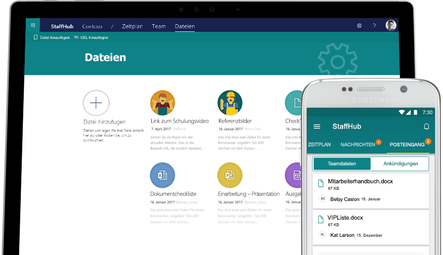 Office365 StaffHub Teamdateien